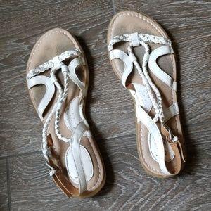 B.O.C White  braided sandals womens 9